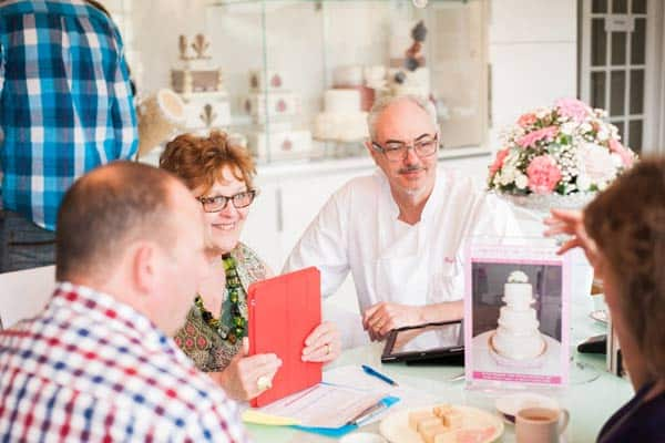 Wedding Cake consultation with Jenny and Tom