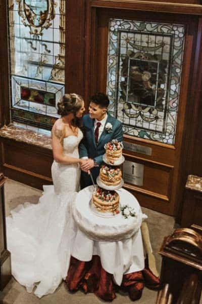 Cutting The Cake Photo Kelly and Amy