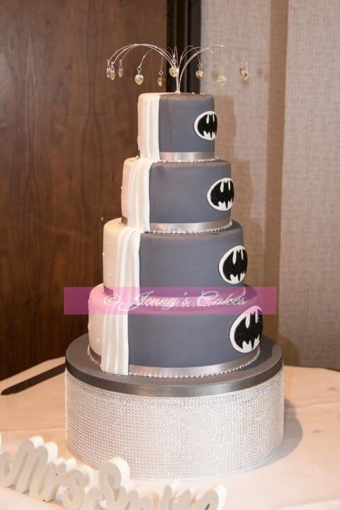Batyman Themed wedding cake