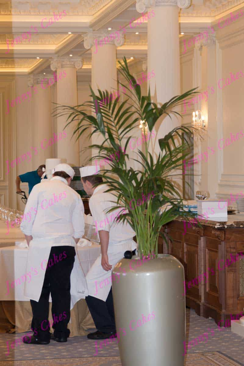 turnberry wedding cake chefs at work